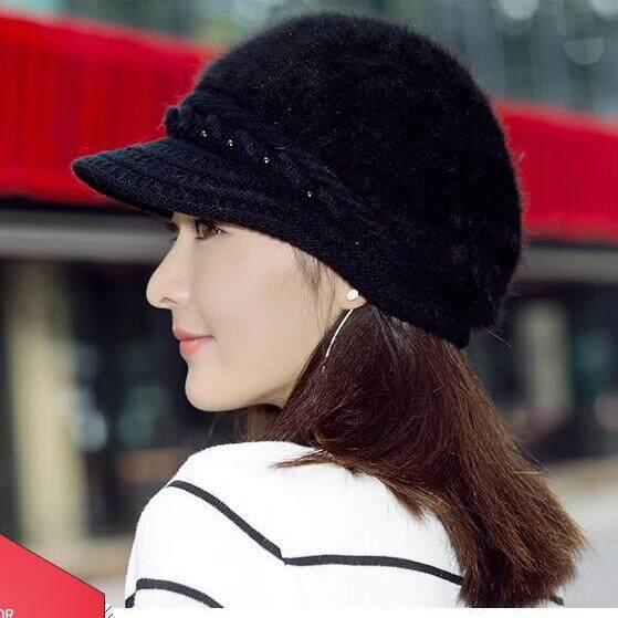 f0fe44a609a Knitted Hat Women Winter Hats for Women Ladies Beanie Girls Skullies Bonnet  Femme Snap Back Warm