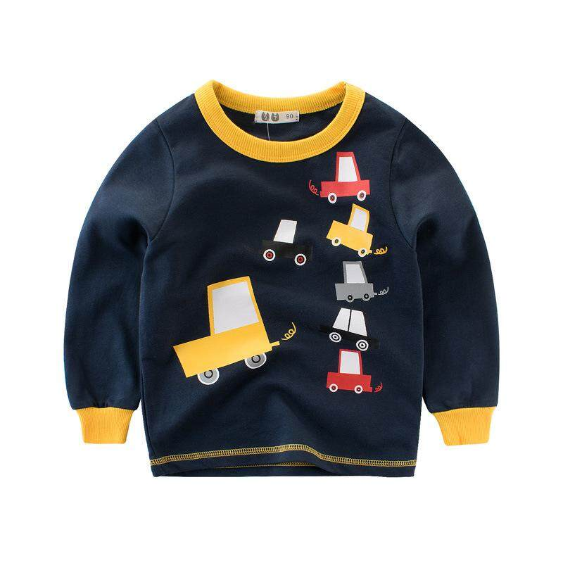 8cbd4e96a 2018 Spring Edition Children's Wear Boy's Car Series Terry Pullover