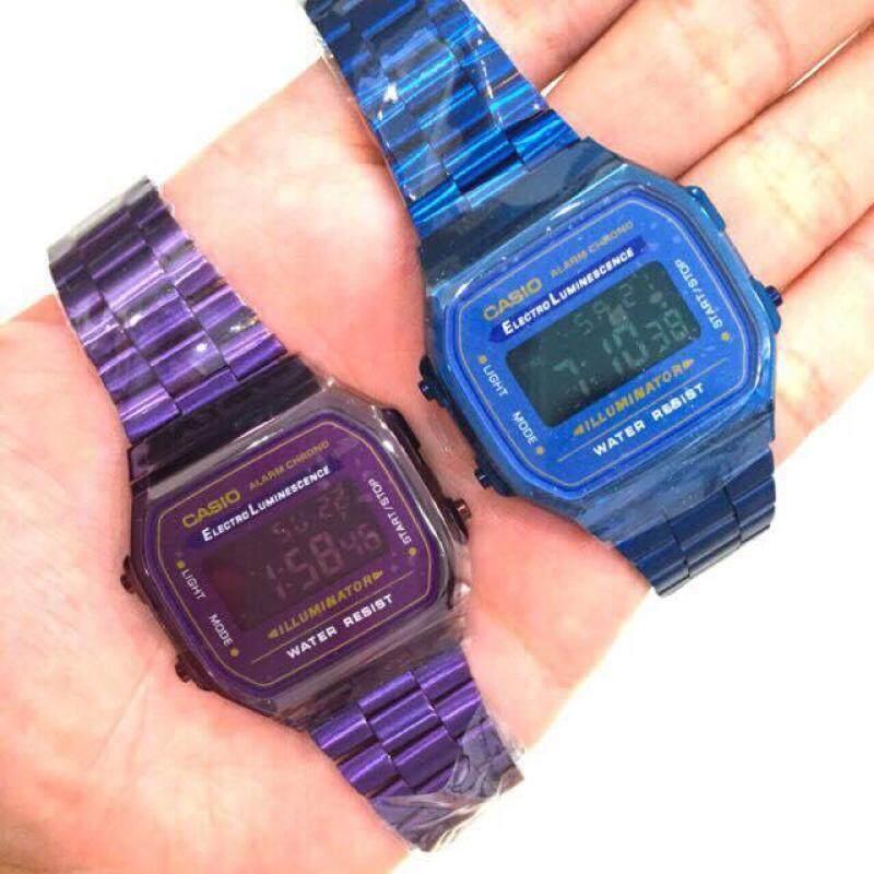 Ca sio A168 Digital Purple / Blue VIRAL Malaysia