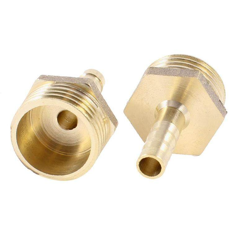 2pcs Brass 6mm Air Gas Pipe Hose Barb 1/2 Pt Male Thread Couplings Adapter By Fastour.