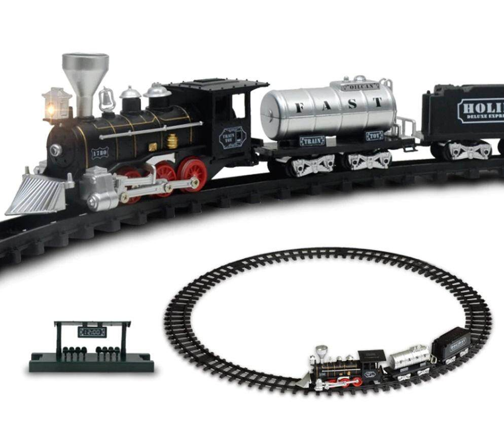 Baby Care Classical Track Train Retro Steam Train Electronic Toy With Sound And Light - 6109 By The Thing Store.