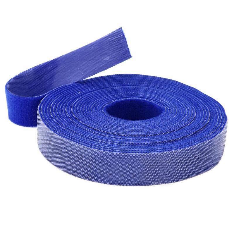 Long Fastening Tape 2cm Hook & Loop Fastening Tape Cable Ties 5M blue