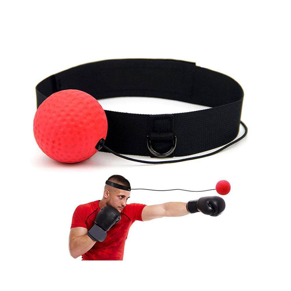 GoodScool Boxing Reflex Ball With Hand Wraps - Fight Ball Boxing Equipment,  Pro Reflex Boxing Trainer For Shadow Boxing, Speed Training, Punching