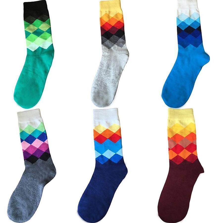 Best Gift Unisex Beautiful Multicolored Dress Socks Argyle USA Made Imported