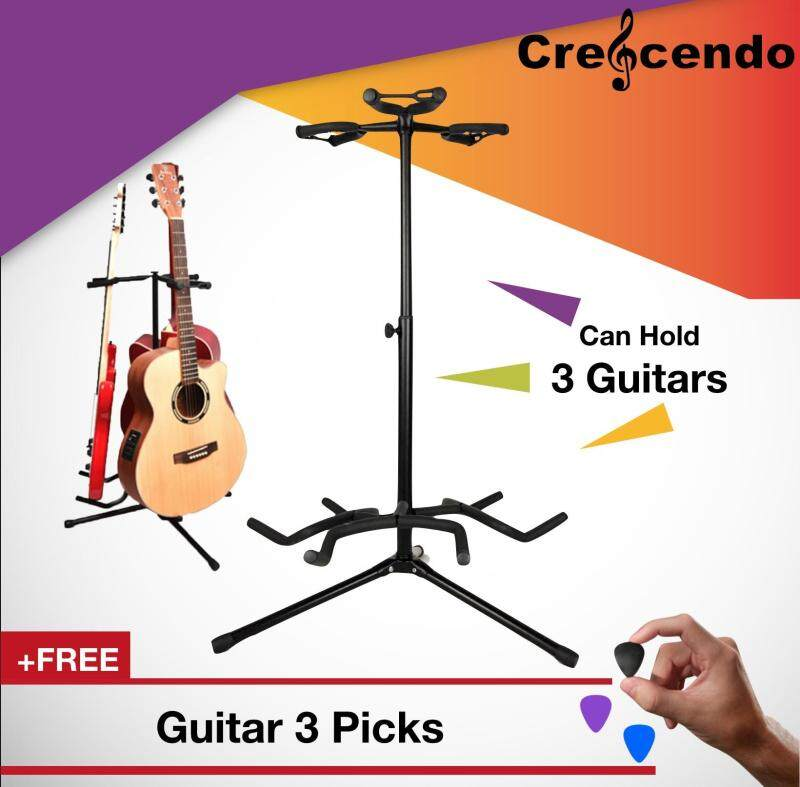 Adjustable Triple Guitar Stand for Acoustic, Electric, Classical and Bass Guitar Malaysia