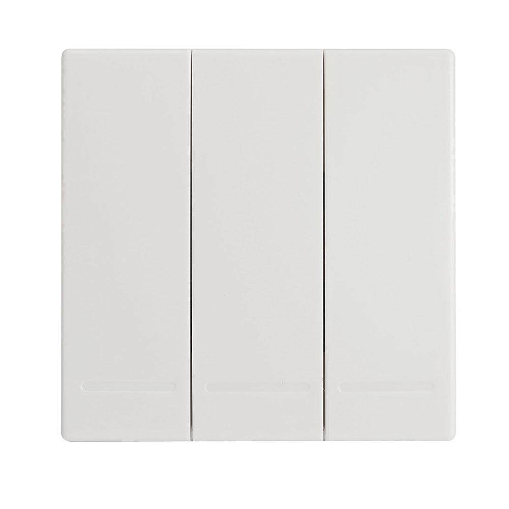 QE 3M 433MHz Universal Wireless Remote Controls Wall Panel RF Transmitter With Buttons for Home Room Lighting Switch