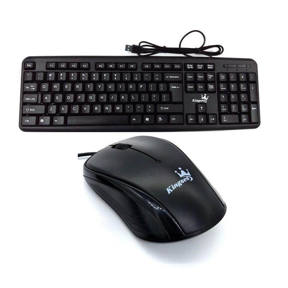 Kingses Ergonomic Wired USB Keyboard & Mouse Combos set Malaysia