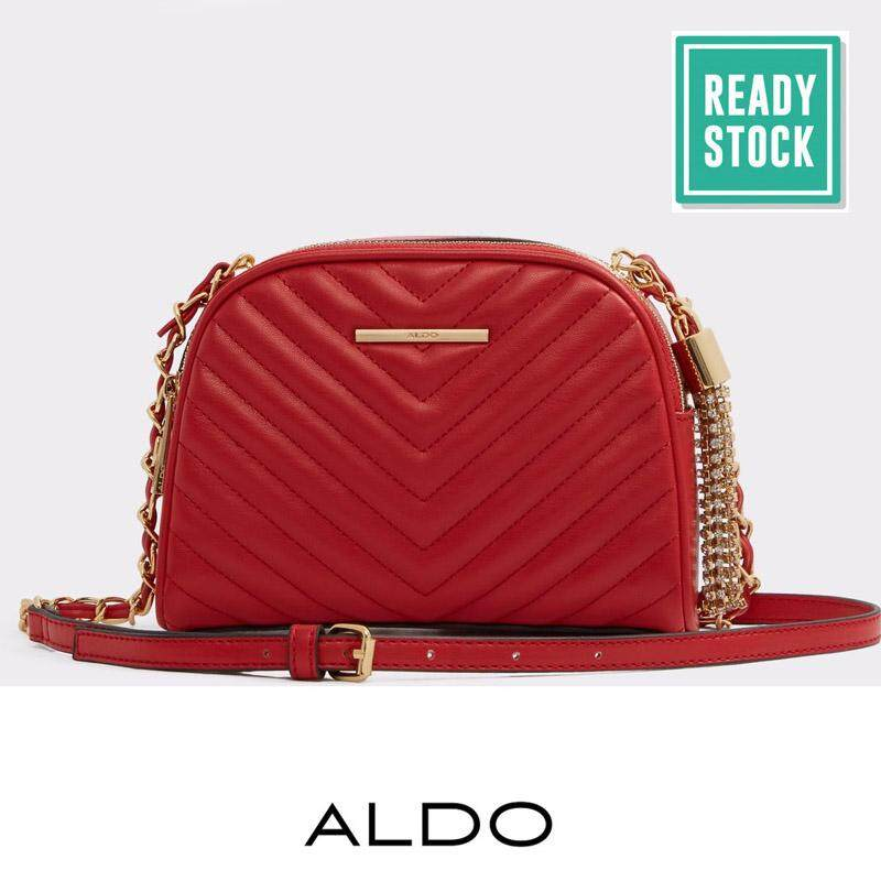 Malaysia Authentic Aldo Chevron Quilted Cross Body Bag Red