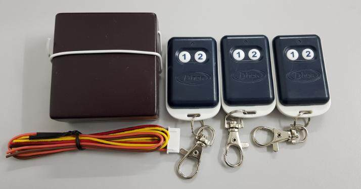 Dnor Autogate Remote Control with 3 x Remote and 1 x Receiver (433Mhz)