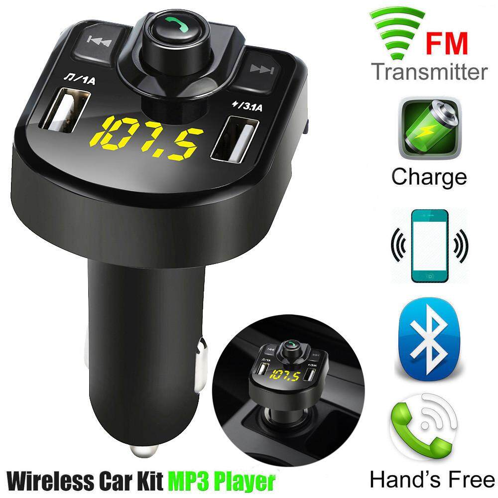 Hammshop Bluetooth Car Fm Transmitter Wireless Radio Adapter Usb Charger Mp3 Player By Hammshop.