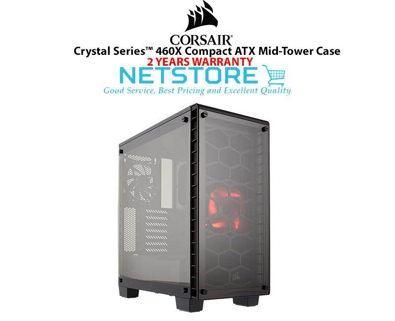 Corsair Crystal Series 460X TG Tempered Glass Compact ATX Mid-Tower PC Gaming Dekstop Case CC-9011099-WW Malaysia