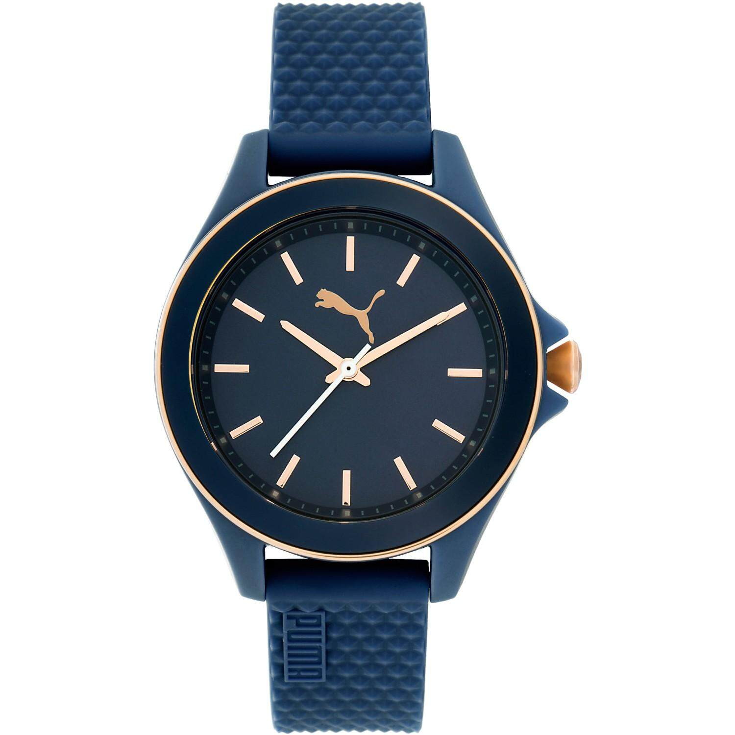 7943361bb3 Authentic PUMA PU104062010 Ladies Navy Blue Dial Rubber Strap Watch
