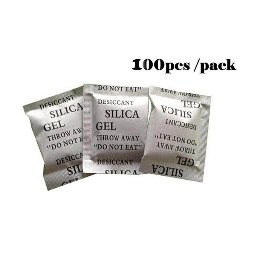 100 X 2g Packets Of Silica Gel Sachets Desiccant Pouches Moisture Absorber For Medical, Food, And Electronic Packing By Freemen Shop.