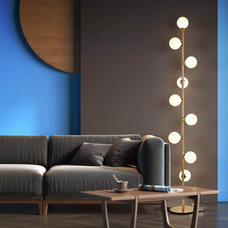 Lamps & Shades Glass Crystal Decoration Floor Lamps Standing Staande Lamp Led Nordic Floor Lamps For Living Room Vloer Lamp Bedroom