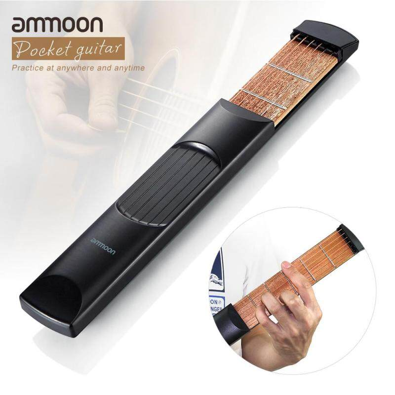 Portable Pocket Acoustic Guitar Practice Tool Gadget Chord Trainer 6 String 6 Fret Model Malaysia