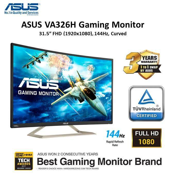 "ASUS VA326H Gaming Monitor – 31.5"" FHD (1920x1080), 144Hz, Curved, Flicker free, Low Blue Light Malaysia"