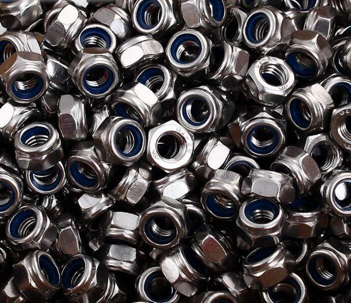 50pcs 304 Stainless Steel Lock Nut Self Locking Nut Nut M8