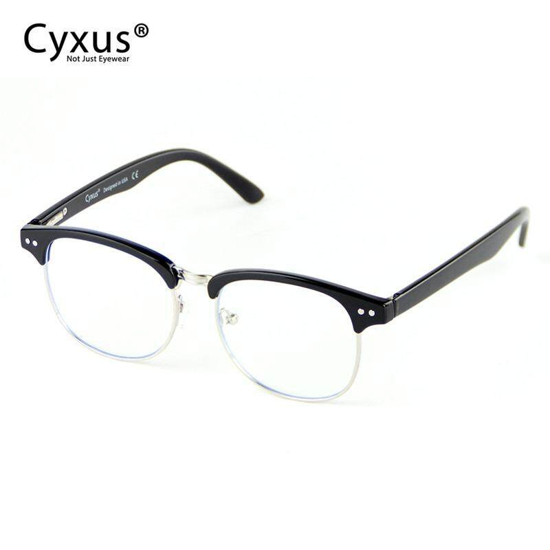 a3fbef3b8f8a Cyxus Blocking Blue Light Designer Computer Glasses Anti Eyestrain with  Spring Hinge UV400 Half Rim Gaming