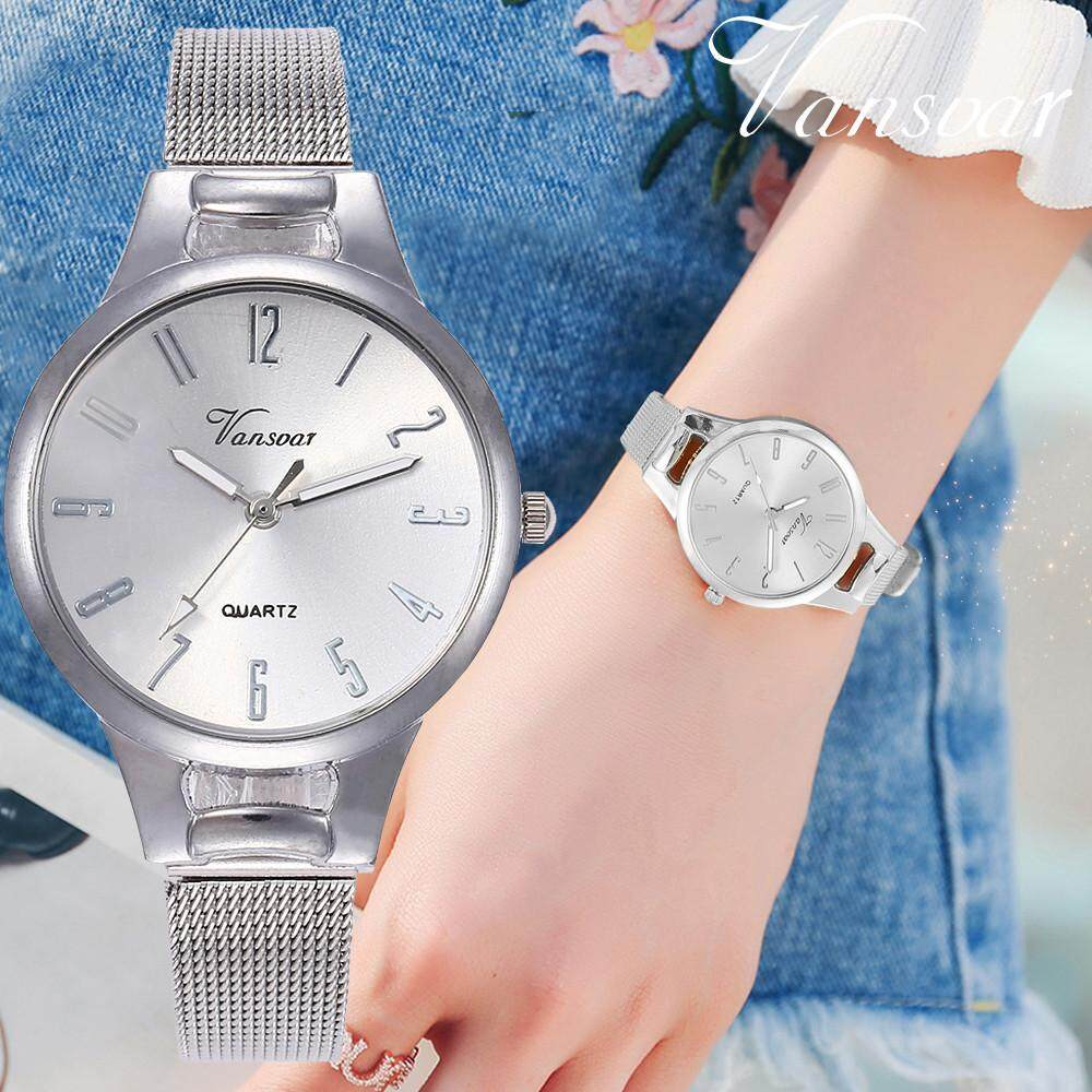 BPFAIR vansvar Casual Quartz Stainless Steel Band Newv Strap Watch Analog Wrist Watch Free shipping For Women Malaysia