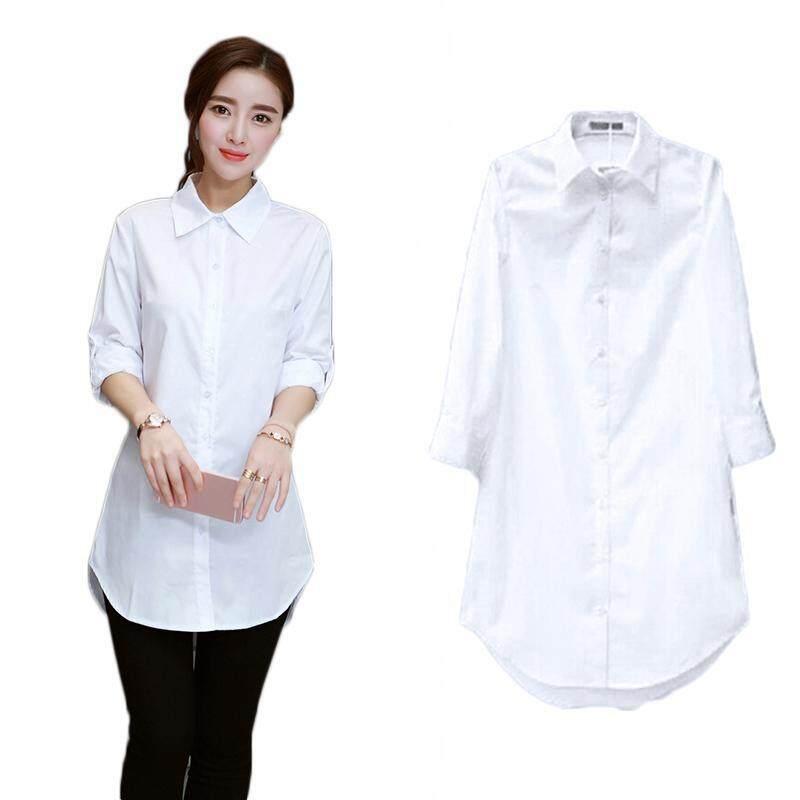 8008f613 Vgobuy Fashion New Women' S Casual Long Sleeve White Long Blouse Tops