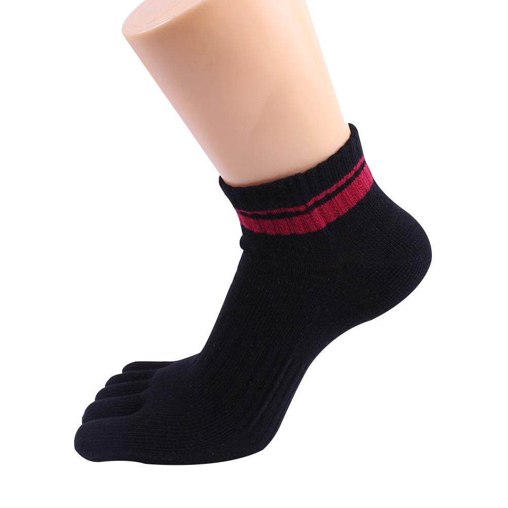 Danlong Men Five Finger Socks Anti-Stink Sweat-Absorb Cotton Toe Socks Sports Running Pure Color By Danlong Store.