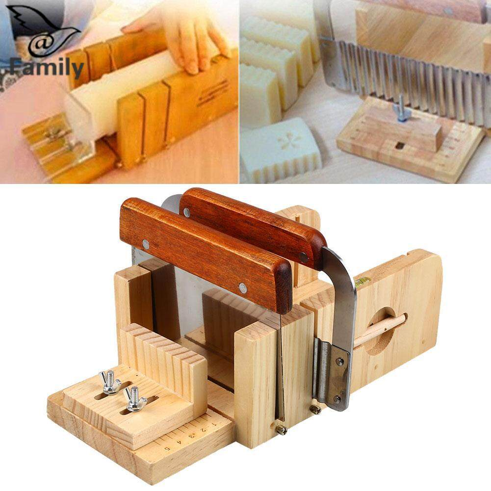 Big Family:3pcs Professional Adjustable Handmade Wood Soap Mold Cutter Slicer Tools Set