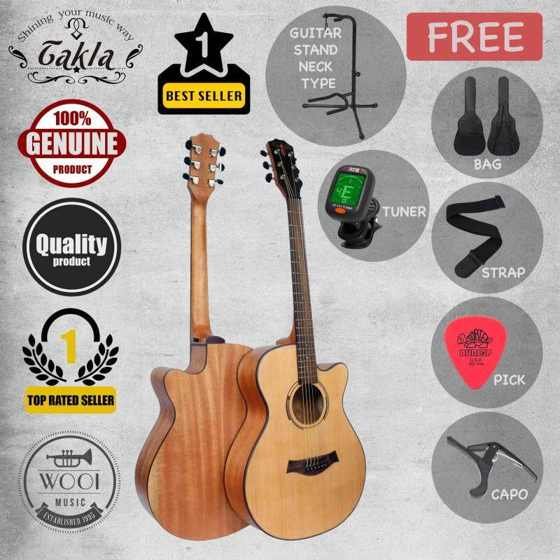 Takla M120 Acoustic Guitar 40( FREE Bag, Picks, Strap, Tuner, Capo & Neck Stand) Malaysia
