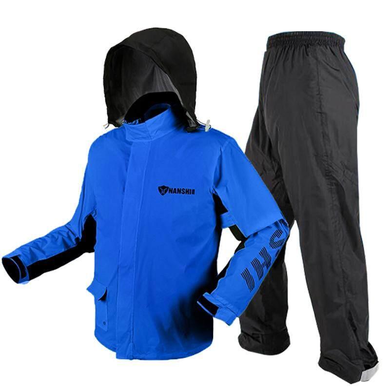 NANSHI Raincoat And Rain Pants Set Adult Split Type Raincoat Motorcycle  Riding Waterproof Male Ultra-Thin Anti-Heavy Rain Raincoat