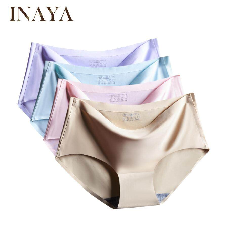 INAYA Women Panties Seamless Underwear Ice Silk Comfortable 3110359aa