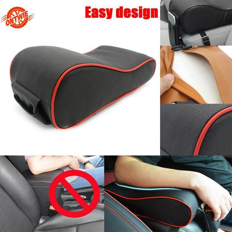 Car Automobile Armrest Cushion Interior Handrail Pad Pu Leather Protective Case By Ontwie.