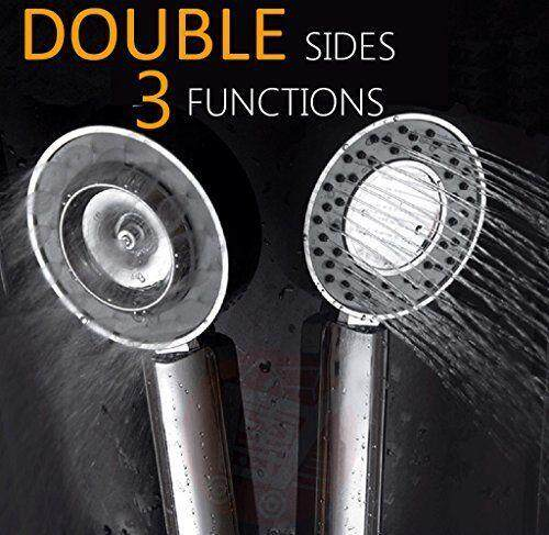 Double Sides High Pressure Handheld Shower Head Multi Functions Premium Qual