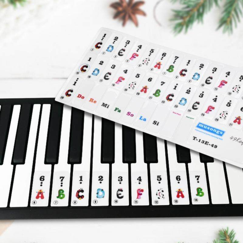 big sale & ready stock Piano Keys Sticker Set for 61/49 Key Keyboards Removable for Beginners Transparent Malaysia