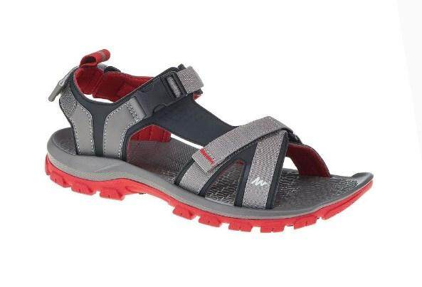 Quechua Men's Arpenaz 100 Hiking Sandals, Grey By Europe Trend.