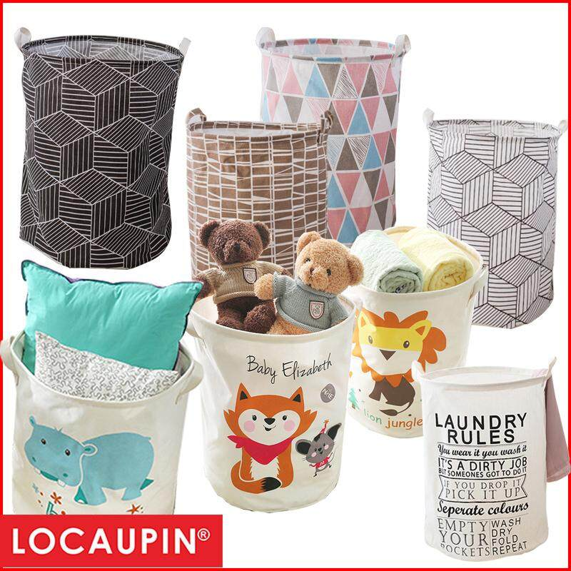 Locaupin Cotton Linen Laundry Basket Washing Storage Basket(40 X 50cm) By Locaupin Official Store.