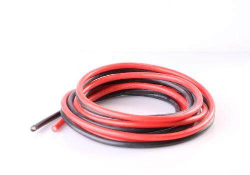 8 AWG Ultra Soft and Flexible Silicone Wire 1650 Strands BLACK and RED - By The Meter