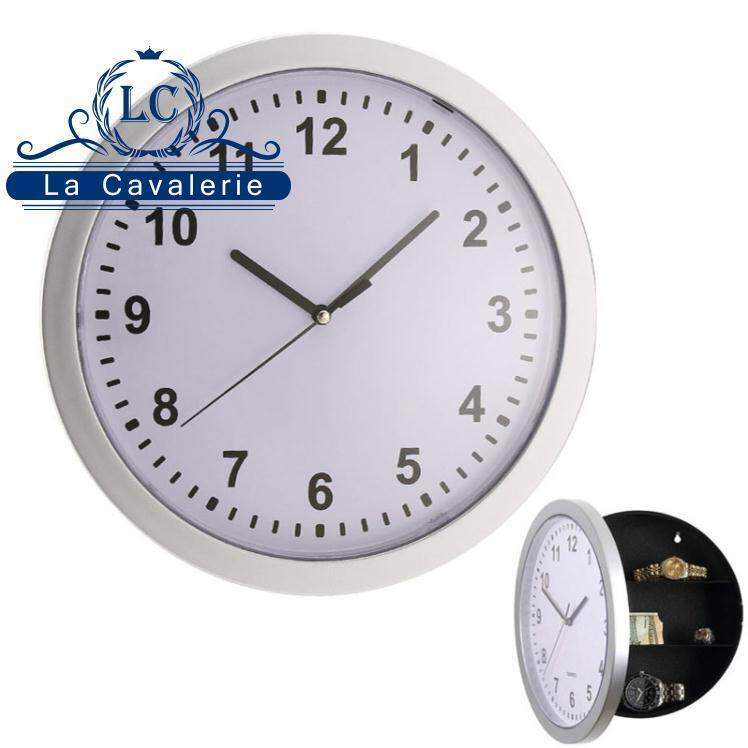 Safe Wall Clock Hidden Container Store Box Bin For Money Stash Jewelry Storage