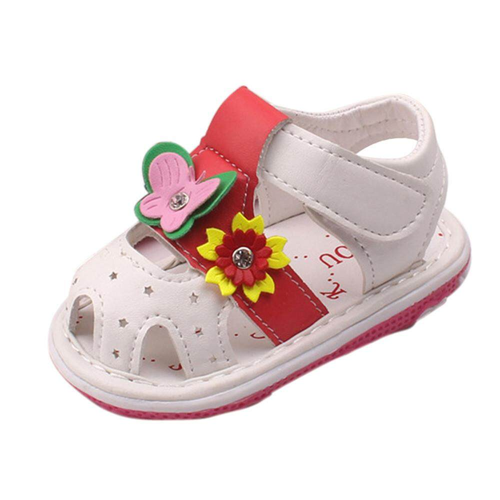 567502848e99 MONIMENT Toddler Baby New Flowers Girls Sandals With Sound Soft-Soled Baby  Shoes Sandals