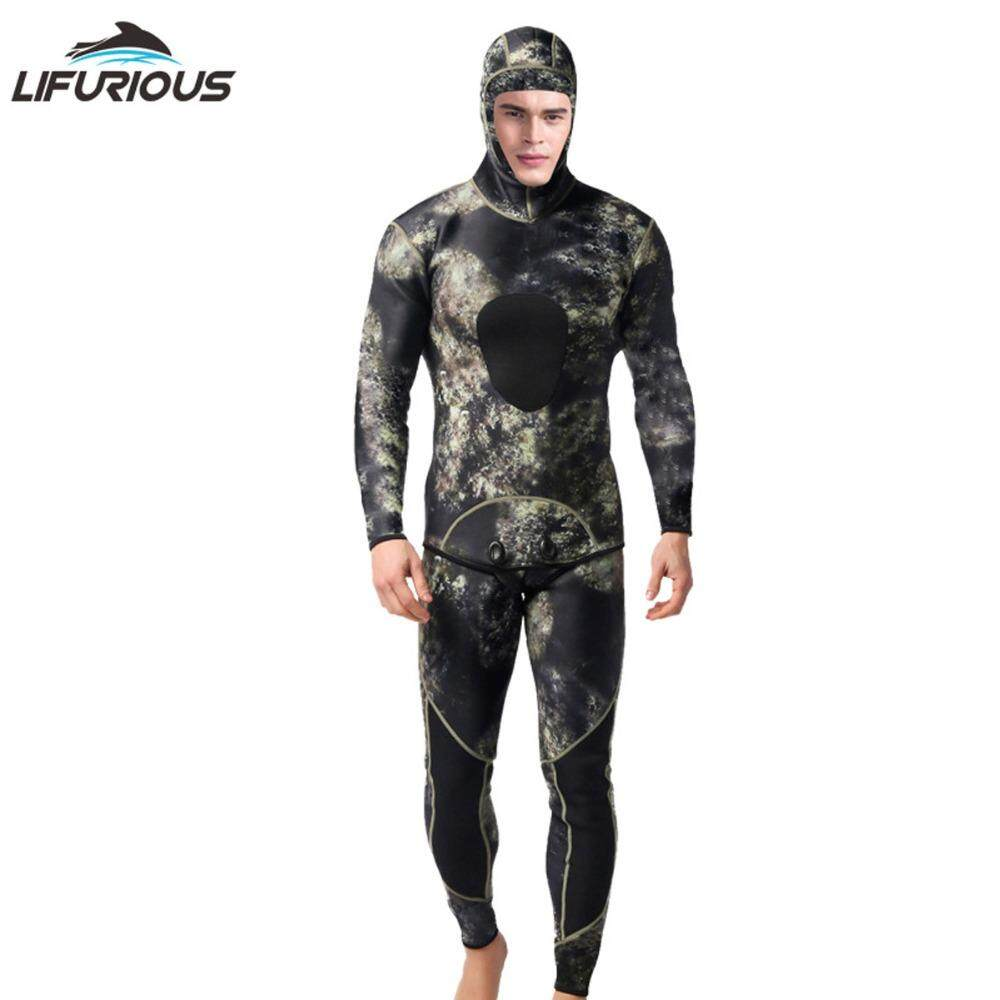 2376380fe9 LIFURIOUS Professional 3mm Swim Wetsuits Men s Diving Suit Split Scuba  Snorkel Swimsuit Spearfishing Surfing Jumpsuit Equipment