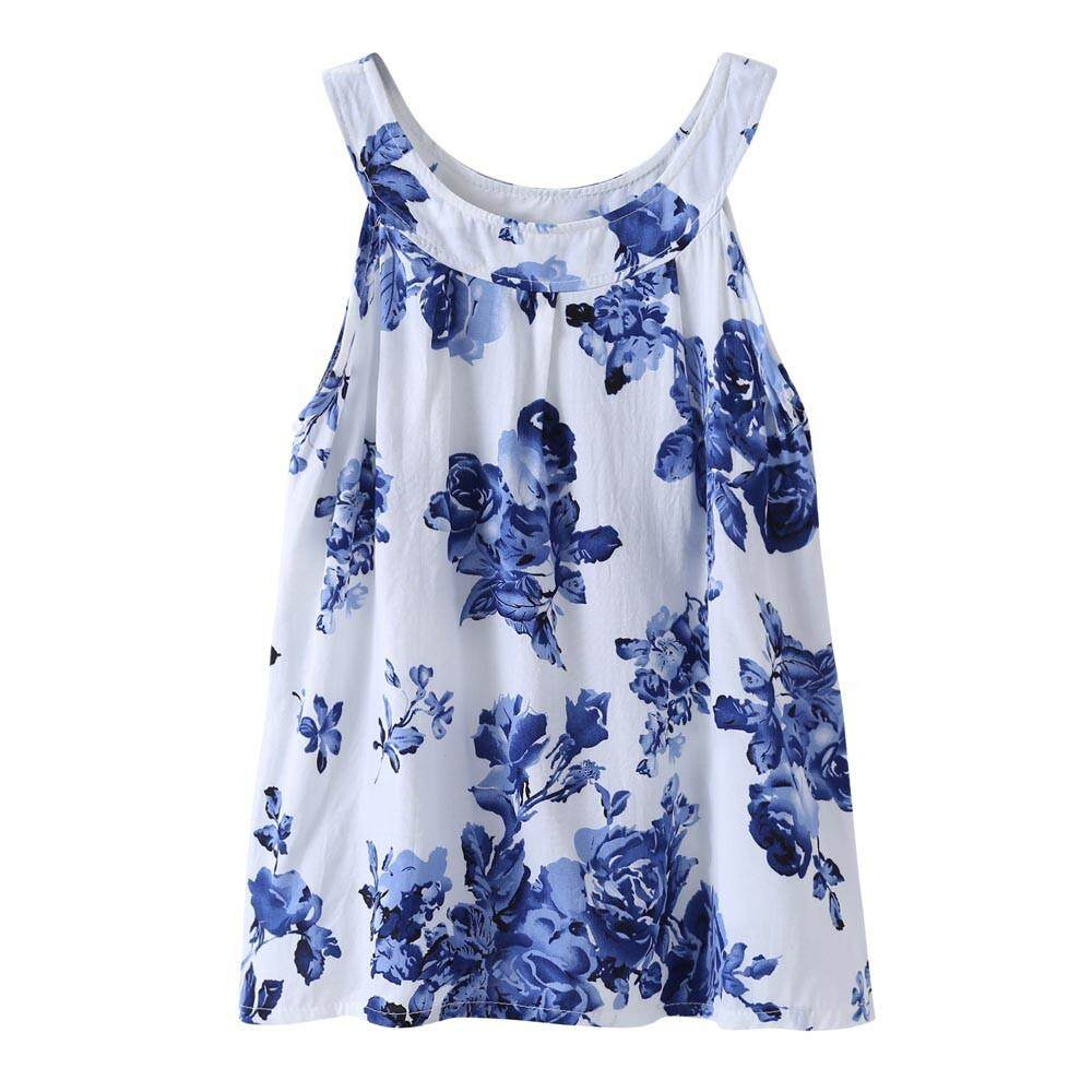 Clothing Accessories For The Best Prices In Malaysia I Am Cotton Sleeveless Romper Blue Sea Summer Cute Baby Kids Girls Dress Toddler Princess Party Floral Print Tutu Danvier