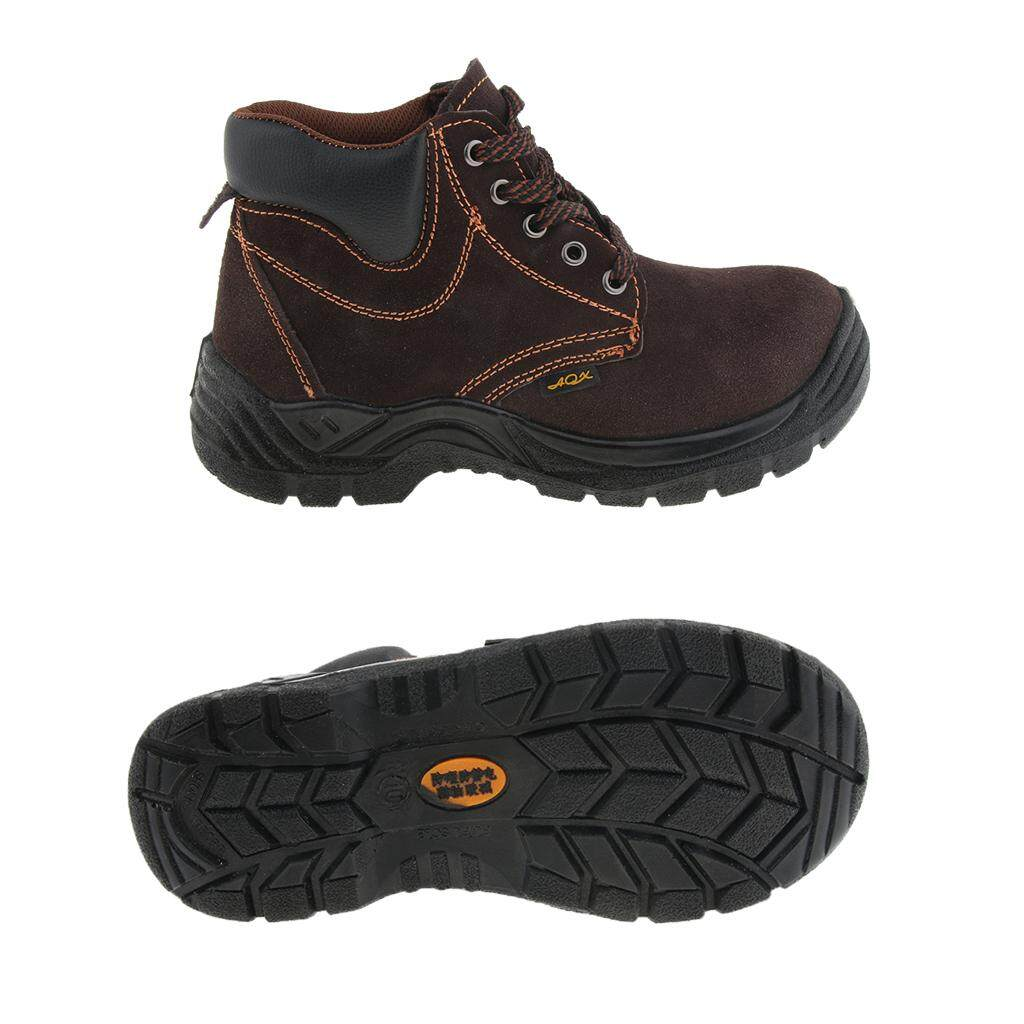 Miracle Shining Safety Work Boots, Steel Toe Work Shoes, Leather, Fine Workmanship, 260mm