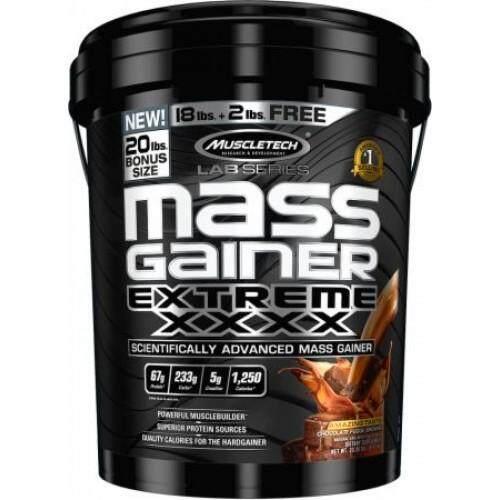 MuscleTech Mass Gainer Extreme XXXX (20 Lbs.) - Chocolate Fudge Brownie