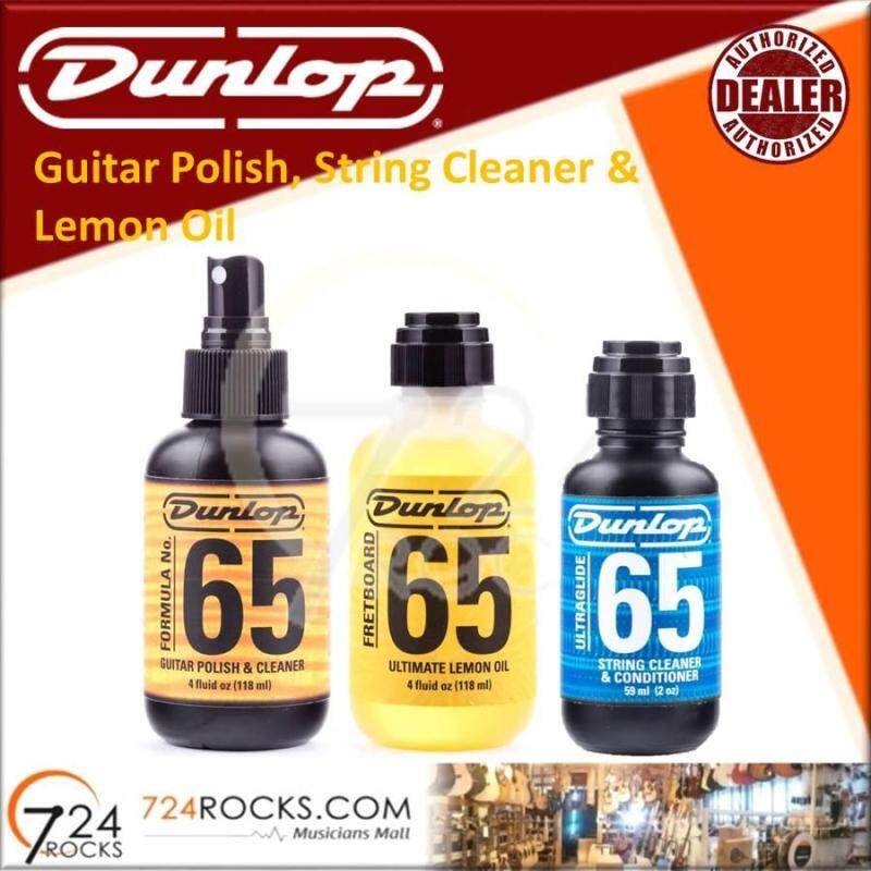 Dunlop Guitar Finger board, Finish and Strings Care Kits / Guitar Polish / Lemon Oil Fretboard Cleaner / Strings Cleaner / Formula 65 Care Product Malaysia