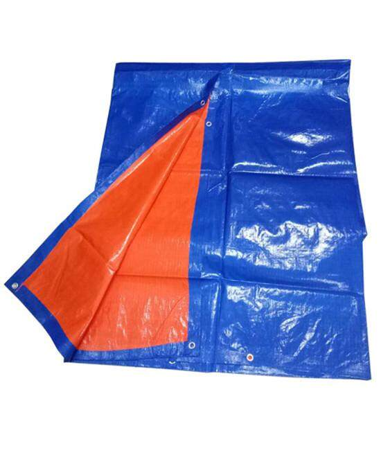 Canvas Blue Orange Colour Tarpaulin Sheet Form [ 15 Kaki X 18 Kaki ]