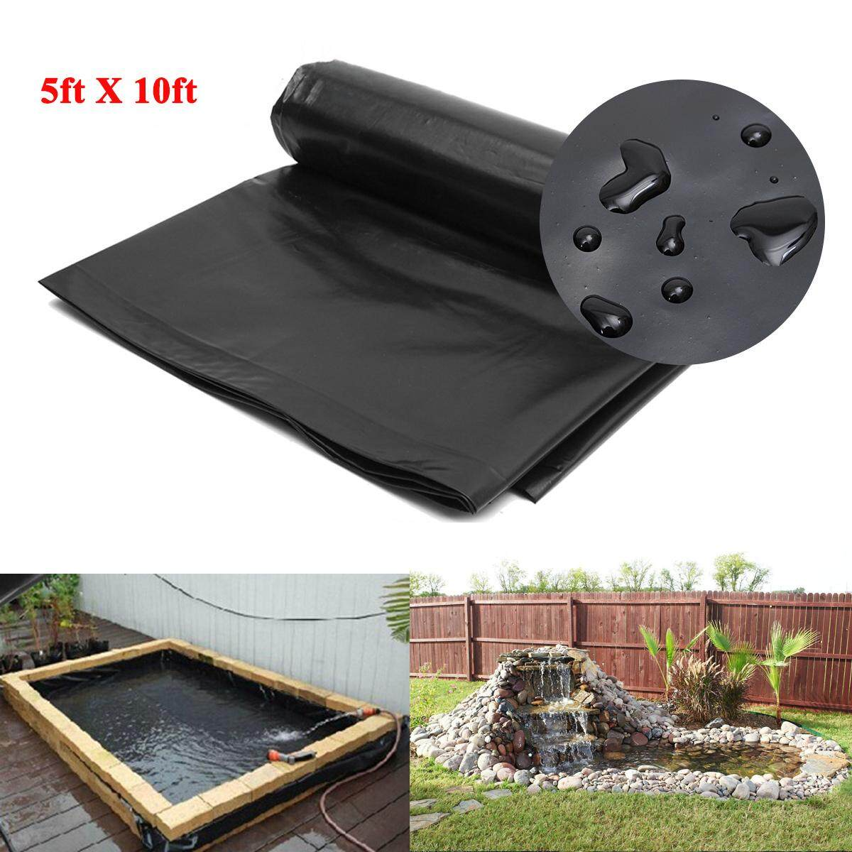 5'x10' HDPE Pond Liner Heavy Duty Landscaping Garden Pool Waterproof Liner  Cloth