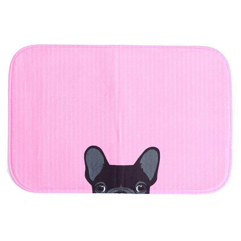 Antiskid Mat Doormat Area Rug Carpet Bathroom Floor Mat Outdoor Indoor Home Dining Room Decor 40cm*60cm Pink Dog