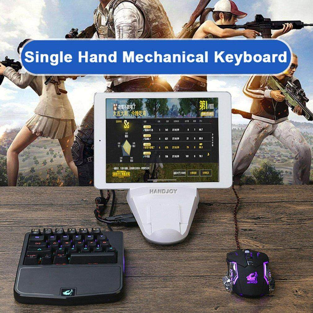 GOOD 28 Keys Single-handedly One Hand Design Mechanical Keyboard USB Wired Keyboard Black Malaysia