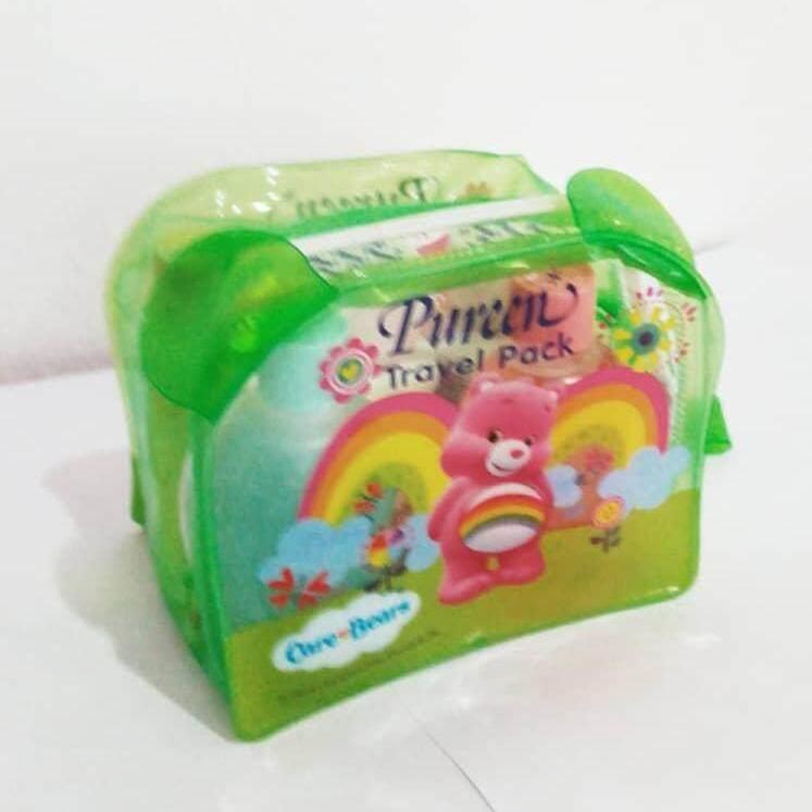 6939190d595ba PUREEN Baby Travel Pack Set Toiletries Travelling Kit Set Saiz Kecil  Regular Type Dengan Transparent Case