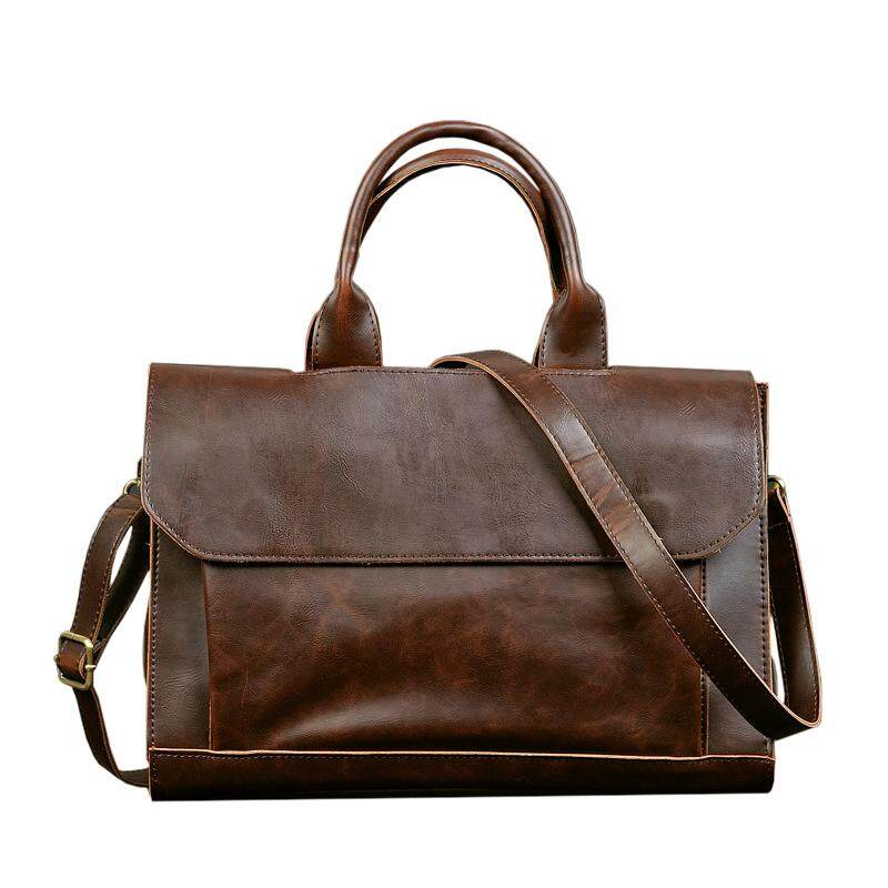 ETONWEAG Vintage Briefcases Men Messenger Bags Brown Luxury Business  Briefcase Document Lawyer Laptop Bag 09f792409ece4
