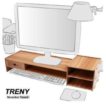 TRENY(Thick 5mm) Computer LCD Monitor Riser With Keyboard Accessories Storage 5088E-C
