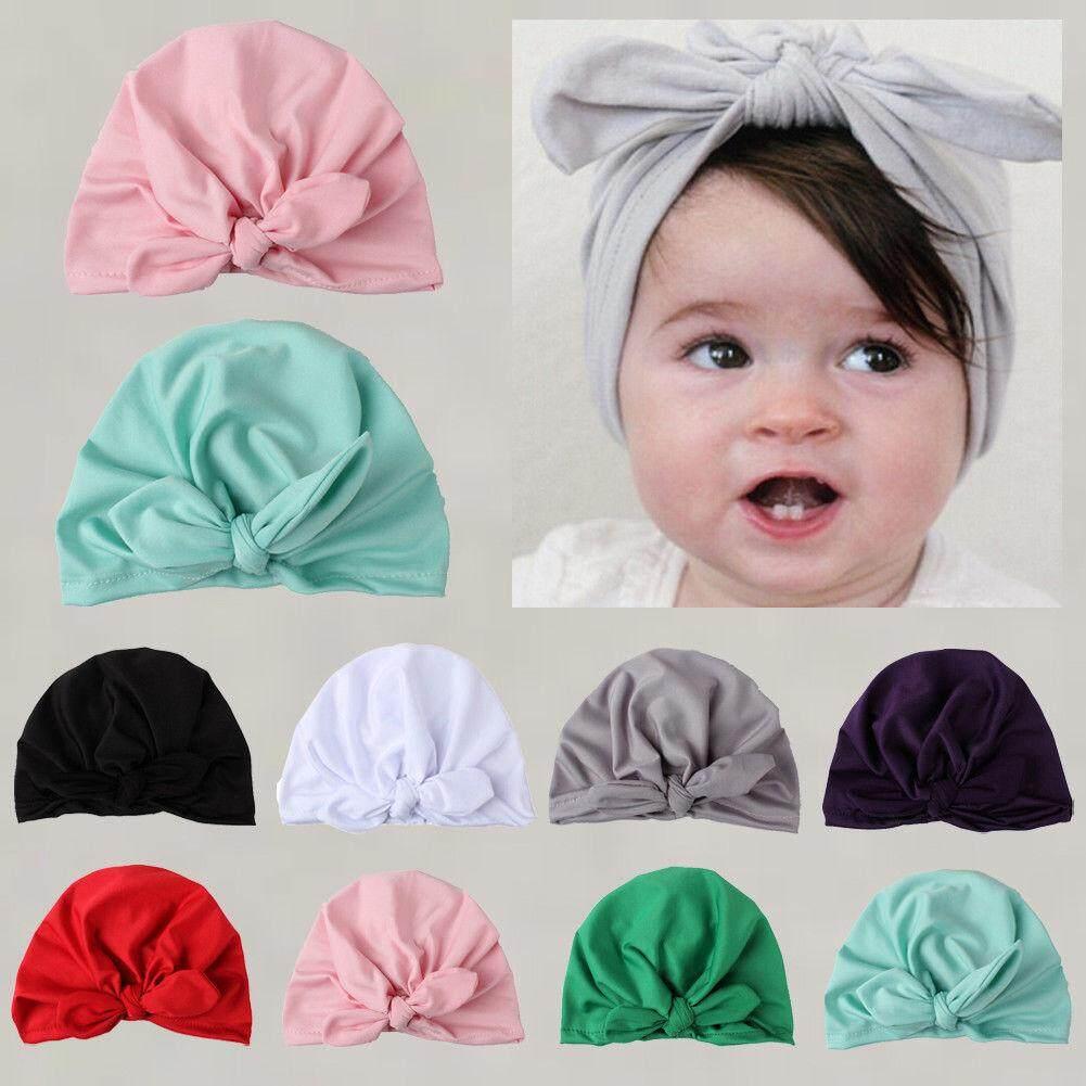 Newborn Toddler Kids Baby Boy Girl Winter Warm Turban Hat Soft Cotton  Beanie Cap 00f8fa743e7